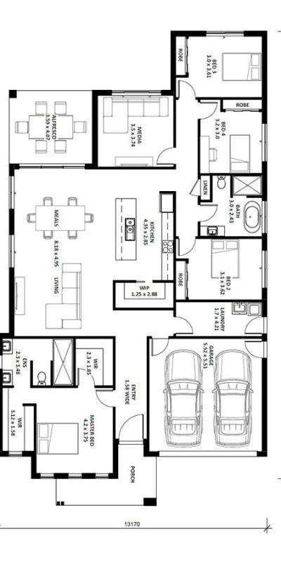 Alyssa 27SQ Floor Plan Vertical House Design