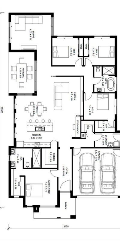 Alyssa 28SQ Floor Plan Vertical House Design