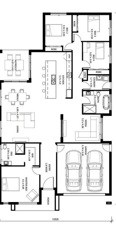 Caprice 27SQ Floor Plan Vertical House Design