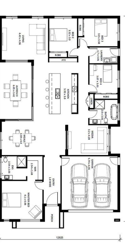 Caprice 29SQ Floor Plan Vertical House Design