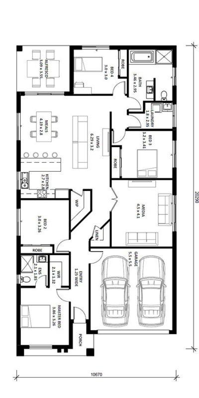 Norfolk 23 (I) Floor Plan Vertical House Design