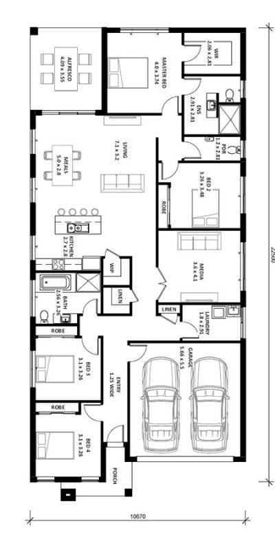 Norfolk 25.5 (I) Floor Plan Vertical House Design