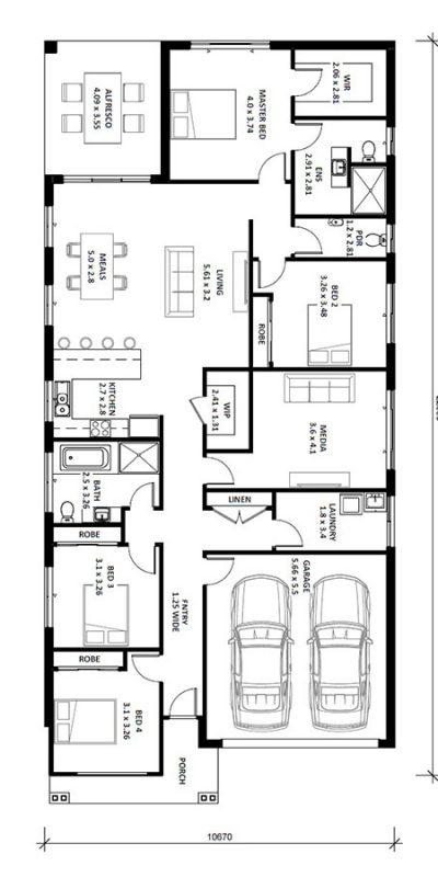 Norfolk 25.5 (II) Floor Plan Vertical House Design